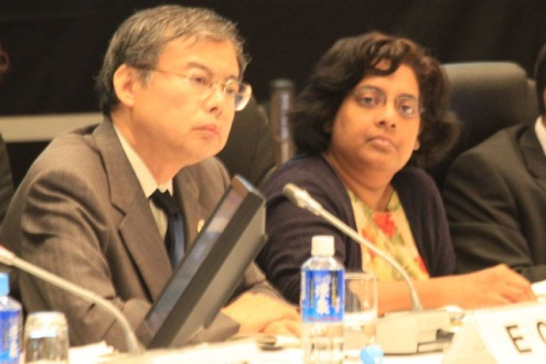 高級実務者会合に出席(2010年、仙台)写真